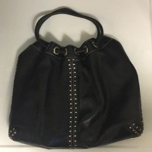 Michael Kors Leather Studded Shoulder Bag Purse